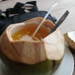 Cara Membuat Minuman Es Jeruk Kelapa Muda