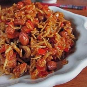 resep teri kacang bumbu balado